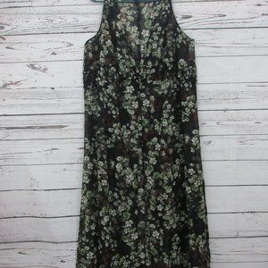 Denim 24/7 floral cover-up ankle length 22W sheer